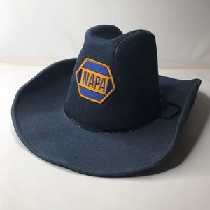 "Vintage NAPA Blue Denim ""The Duke"" Cowboy Hat"